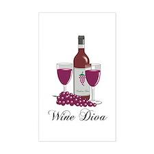Wine Diva Rectangle Decal