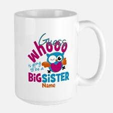 Personalized Big Sister - Owl Mug