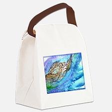 Sea Turtle, Wildlife art! Canvas Lunch Bag