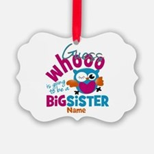 Personalized Big Sister - Owl Ornament