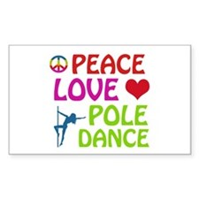 Peace Love Poledance Decal