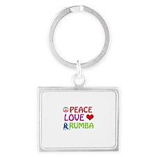 Peace Love Rumba Landscape Keychain