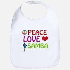 Peace Love Samba Bib