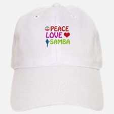 Peace Love Samba Baseball Baseball Cap