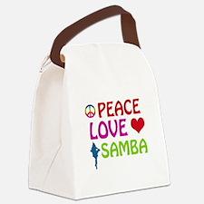 Peace Love Samba Canvas Lunch Bag