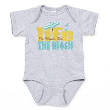 Life's Better Beach Baby Bodysuit
