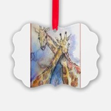Giraffes! wildlife art Ornament