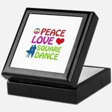 Peace Love Square dance Keepsake Box