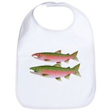 Pacific Coho Salmon fish couple Bib