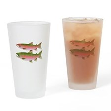 Pacific Coho Salmon fish couple Drinking Glass