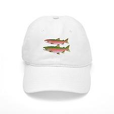 Pacific Coho Salmon fish couple Baseball Baseball Cap