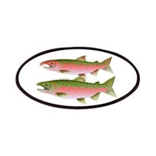 Pacific Coho Salmon fish couple Patches