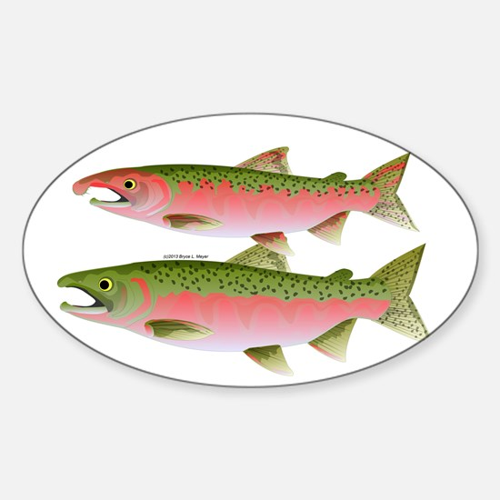 Pacific Coho Salmon fish couple Decal