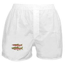 Pacific Coho Salmon fish couple Boxer Shorts