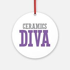 Ceramics DIVA Ornament (Round)