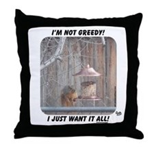greedy Throw Pillow