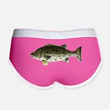 Giant Black Sea Bass fish Women's Boy Brief