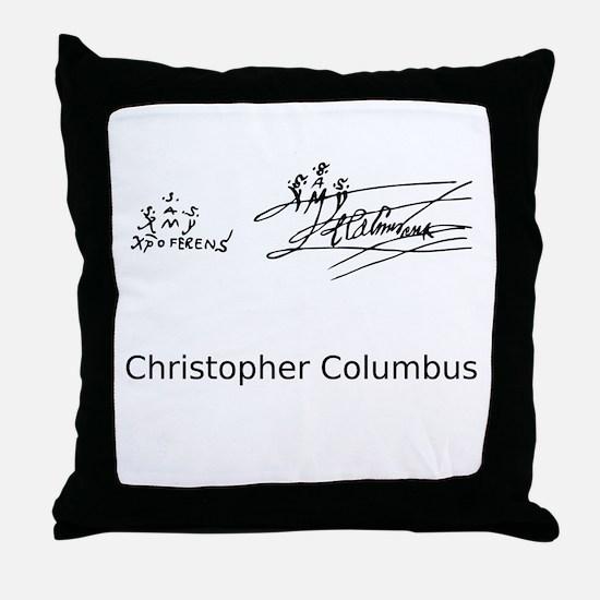 Christopher Columbus Signature Throw Pillow
