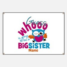 Personalized Big Sister - Owl Banner
