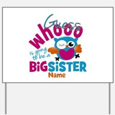 Personalized Big Sister - Owl Yard Sign