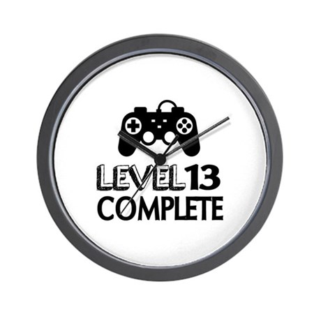 Level 13 Complete Birthday Designs Wall Clock