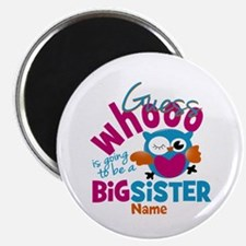Personalized Big Sister - Owl Magnet