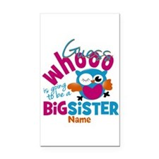 Personalized Big Sister - Owl Rectangle Car Magnet
