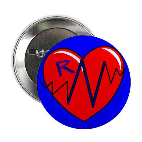 RN EKG Heart Button