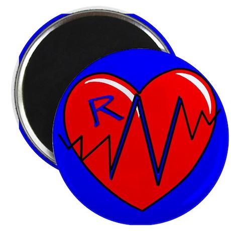 RN EKG Heart Magnet