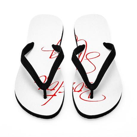 boston-strong-scr-red Flip Flops