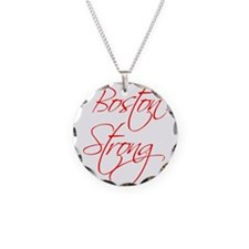 boston-strong-scr-red Necklace