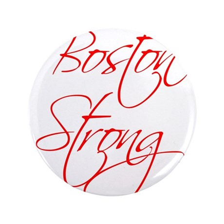 """boston-strong-scr-red 3.5"""" Button (100 pack)"""
