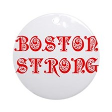 boston-strong-pre-red Ornament (Round)