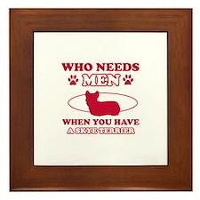 Skye Terrier Mommy designs Framed Tile