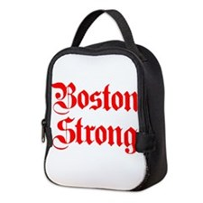 boston-strong-pl-ger-red Neoprene Lunch Bag