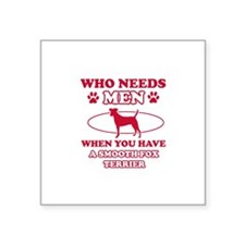 Smooth Fox Terrier Mommy designs Square Sticker 3""