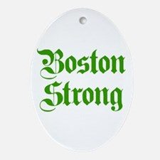 boston-strong-pl-ger-green Ornament (Oval)