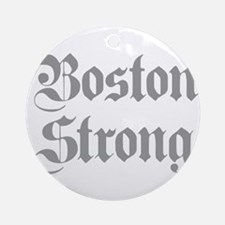boston-strong-pl-ger-gray Ornament (Round)