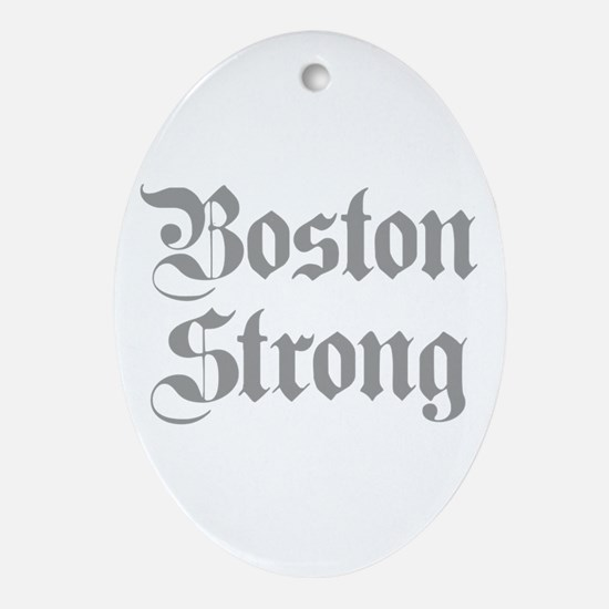 boston-strong-pl-ger-gray Ornament (Oval)