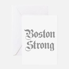 boston-strong-pl-ger-gray Greeting Card