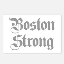 boston-strong-pl-ger-gray Postcards (Package of 8)
