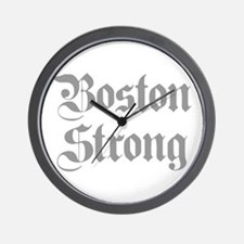 boston-strong-pl-ger-gray Wall Clock