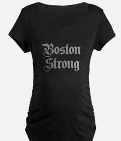 boston-strong-pl-ger-gray Maternity T-Shirt