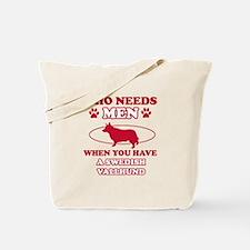 Swedish Vallhund Mommy designs Tote Bag