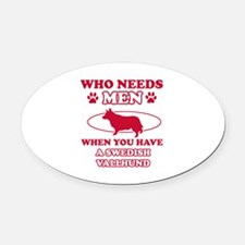 Swedish Vallhund Mommy designs Oval Car Magnet