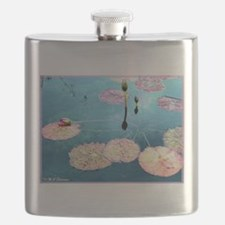 Water Lilies! Nature Photo! Flask