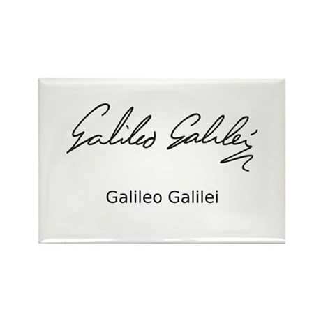 Galileo Galilei's Signature Rectangle Magnet