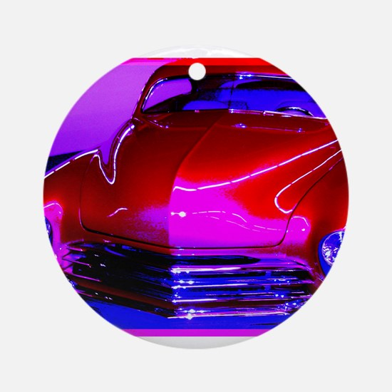 Bright, red car! Photo! Ornament (Round)