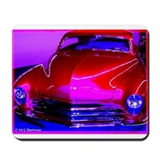 Bright, red car! Photo! Mousepad