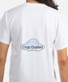 Crop Dusted White Tee
